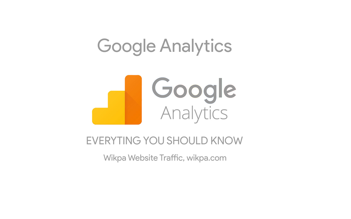 Wikpa Traffic Google Analytics